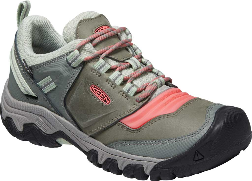 Women's KEEN Ridge Flex Waterproof Hiking Sneaker, Castor Grey/Dubarry, large, image 1