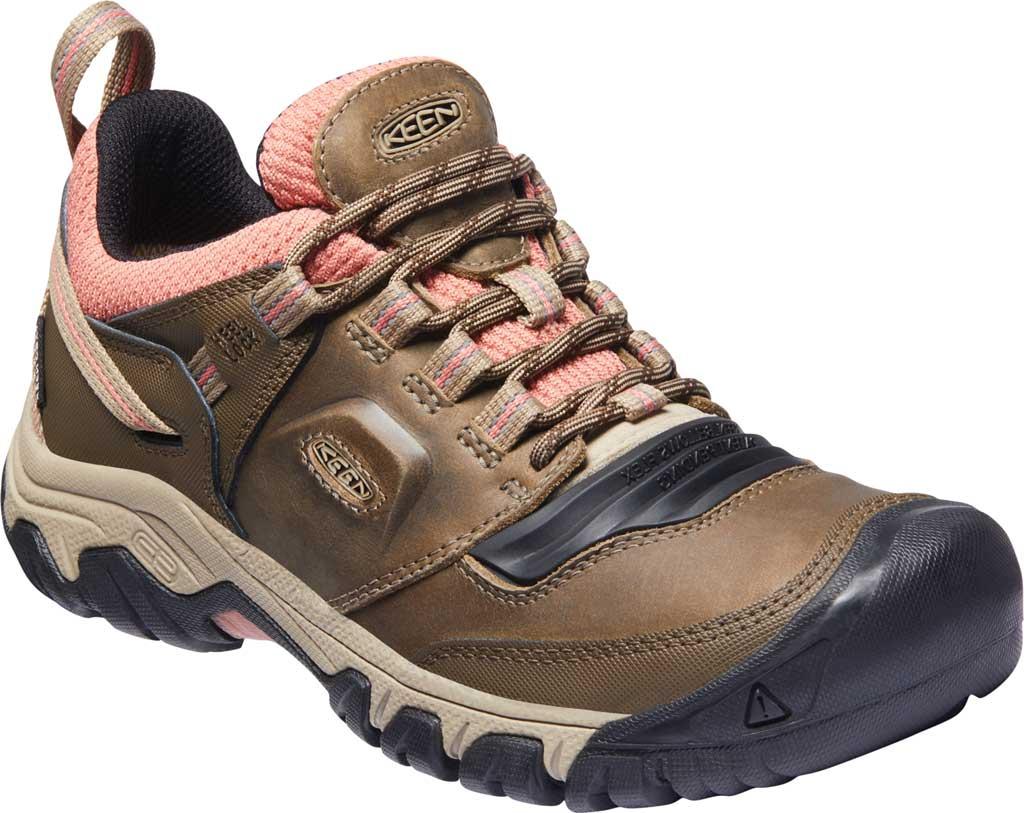 Women's KEEN Ridge Flex Waterproof Hiking Sneaker, Timberwolf/Brick Dust, large, image 1