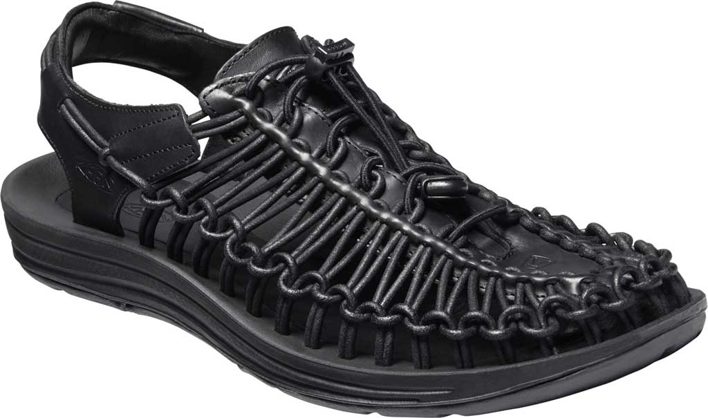 Men's Keen Uneek Closed Toe Sandal, Black, large, image 1