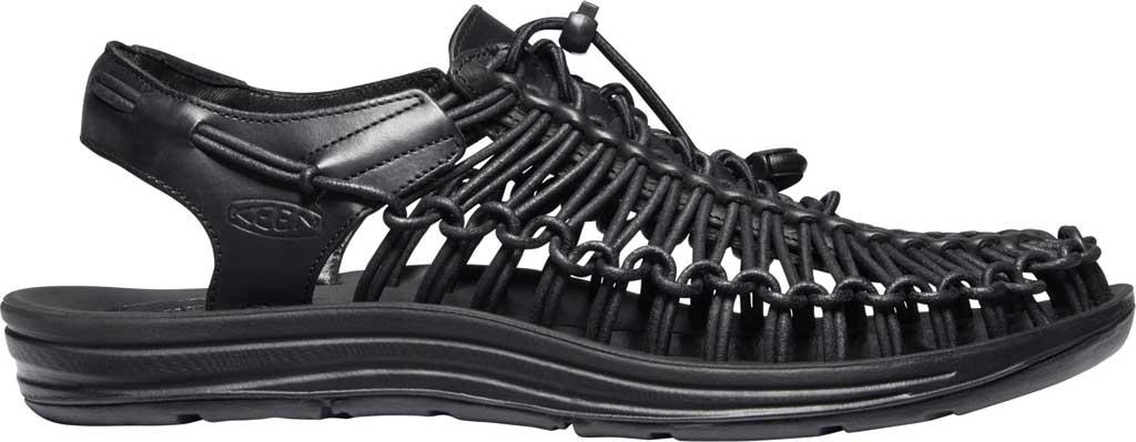 Men's Keen Uneek Closed Toe Sandal, Black, large, image 2
