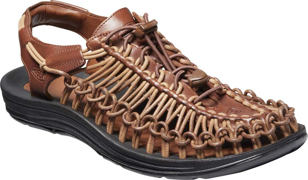 Men's Keen Uneek Closed Toe Sandal, Brown, large, image 1