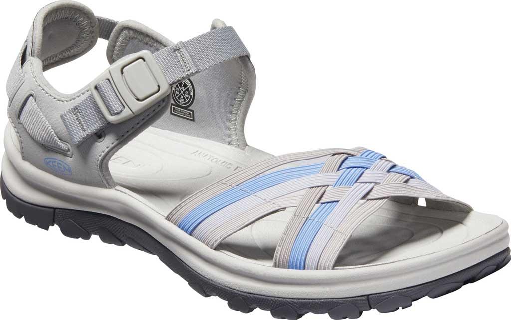Women's KEEN Terradora II Strappy Hiking Sandal, Grey/Hydrangea, large, image 1