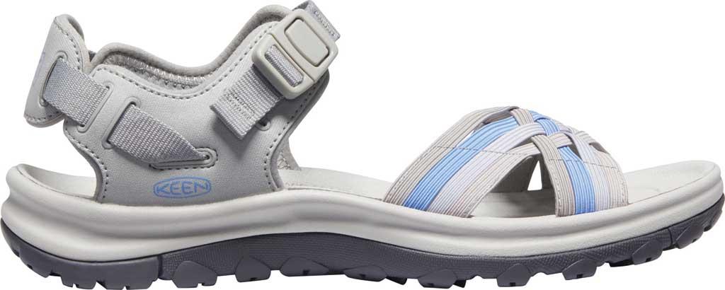 Women's KEEN Terradora II Strappy Hiking Sandal, Grey/Hydrangea, large, image 2