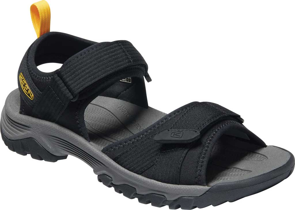 Men's Keen Targhee III H2 Waterproof Hiking Sandal, Black/Yellow, large, image 1