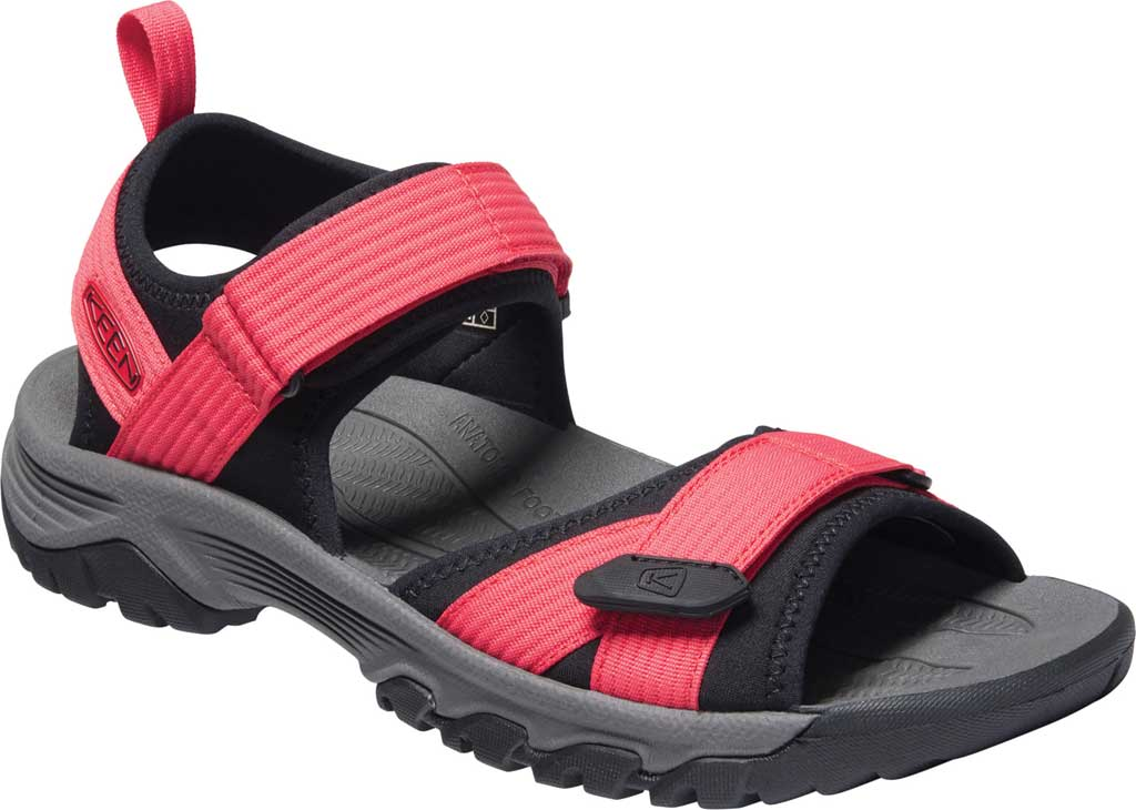 Men's Keen Targhee III H2 Waterproof Hiking Sandal, Red/Black, large, image 1