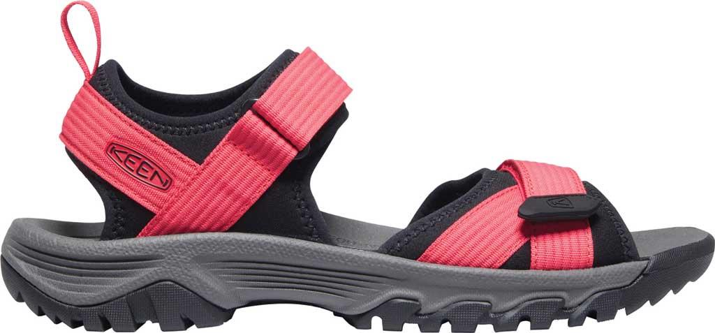 Men's Keen Targhee III H2 Waterproof Hiking Sandal, Red/Black, large, image 2