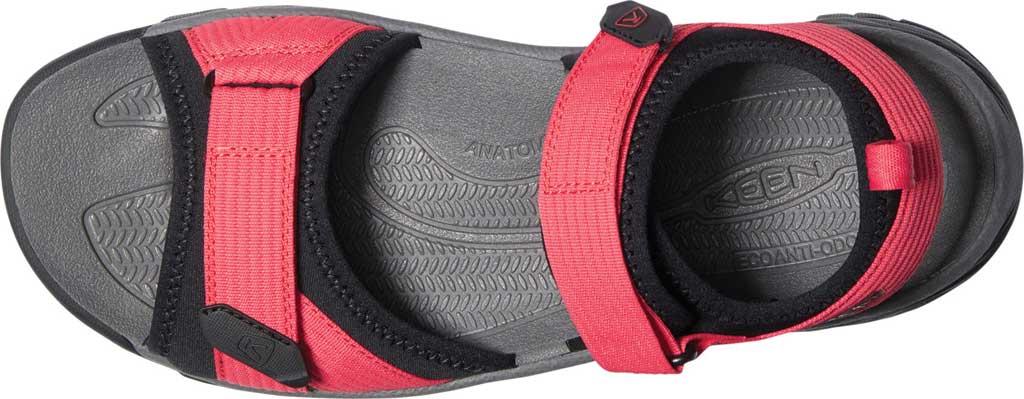 Men's Keen Targhee III H2 Waterproof Hiking Sandal, Red/Black, large, image 3