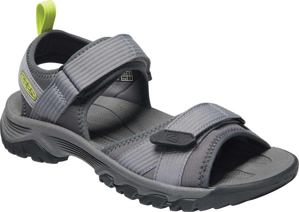 Men's Keen Targhee III H2 Waterproof Hiking Sandal, Steel Grey/Evening Primrose, large, image 1