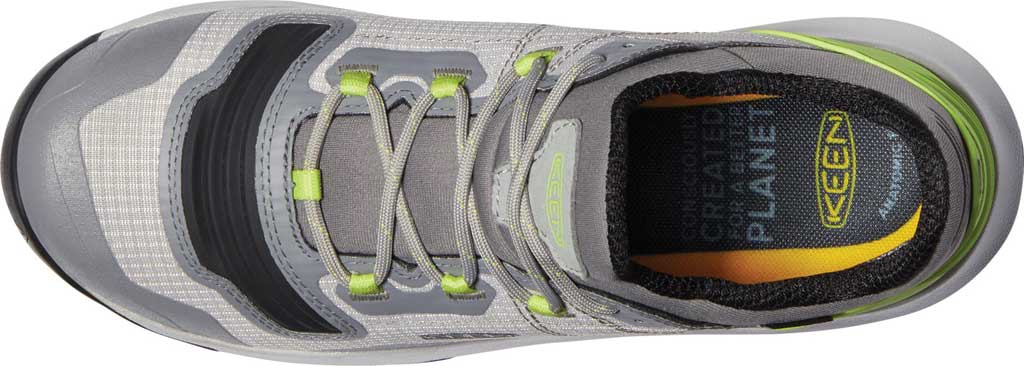 Women's Keen Tempo Flex Waterproof Hiking Sneaker, Drizzle/Sharp Green, large, image 3