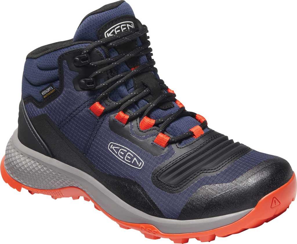 Men's Keen Tempo Flex Mid Waterproof Hiking Boot, Black Iris/Orange, large, image 1
