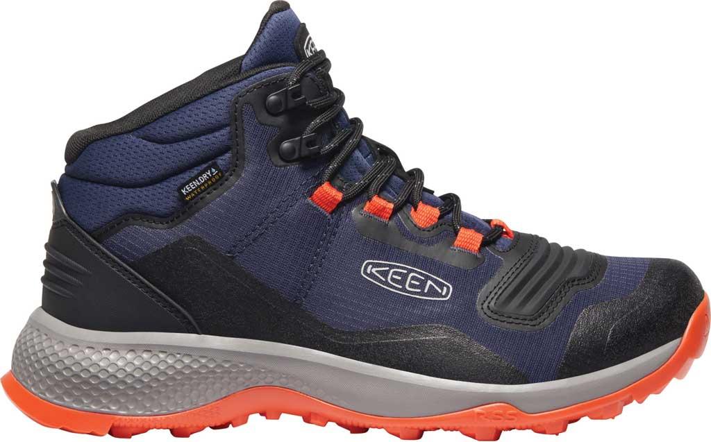 Men's Keen Tempo Flex Mid Waterproof Hiking Boot, Black Iris/Orange, large, image 2
