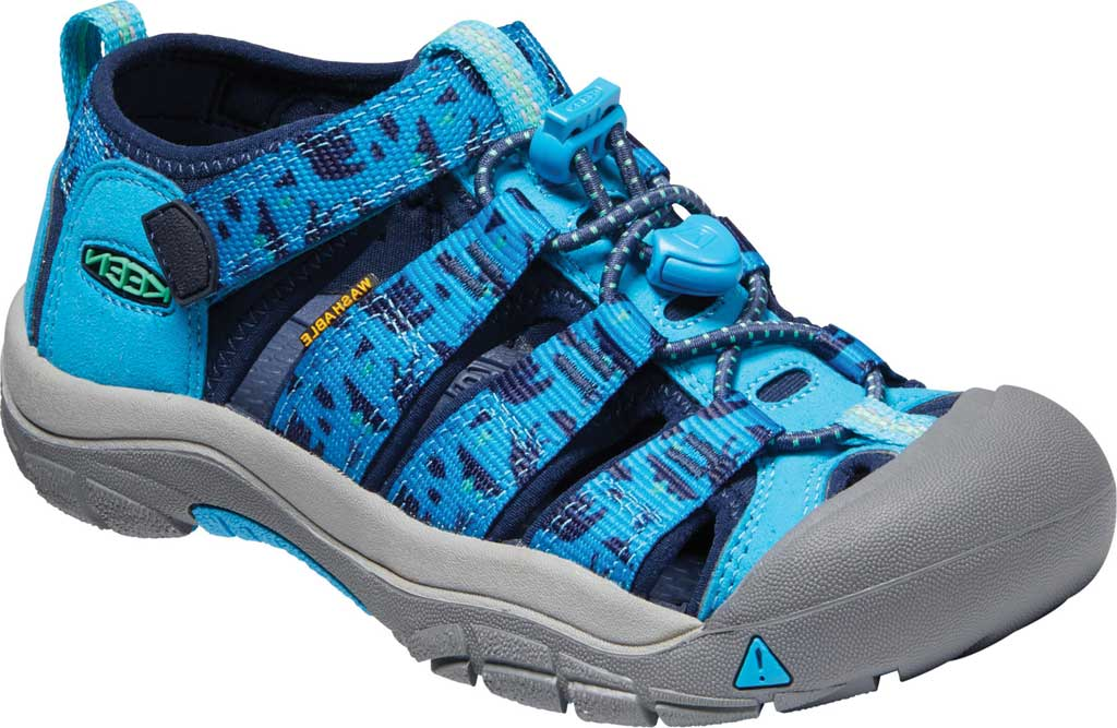 Children's Keen Newport H2 Fisherman Sandal - Little Kid, Vivid Blue/Katydid, large, image 1