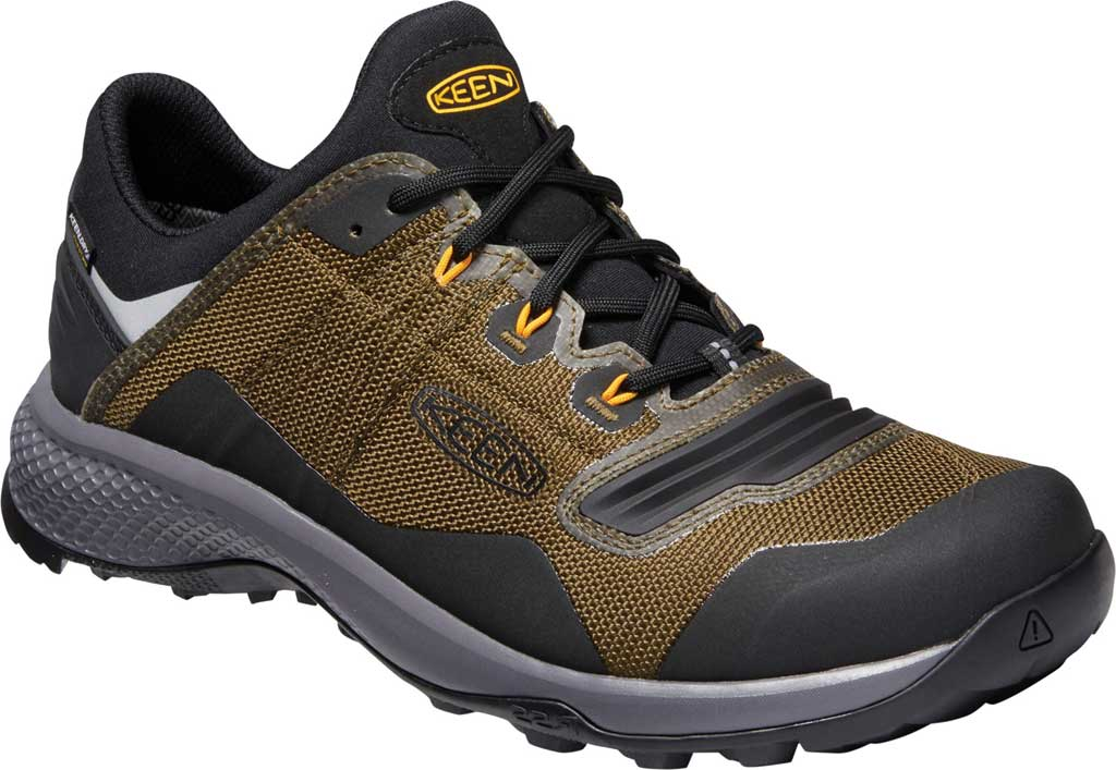 Men's Keen Tempo Flex Waterproof Hiking Sneaker, Dark Olive/Black, large, image 1
