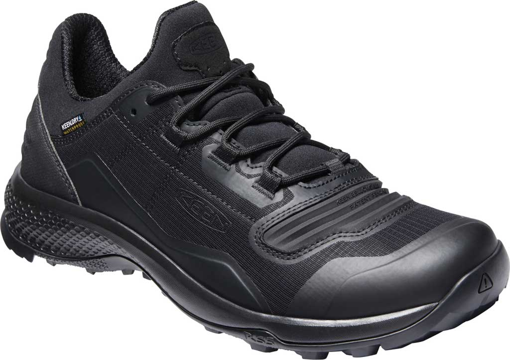 Men's Keen Tempo Flex Waterproof Hiking Sneaker, Triple Black, large, image 1