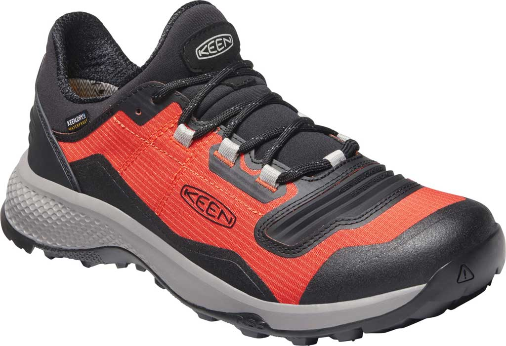 Men's Keen Tempo Flex Waterproof Hiking Sneaker, Orange/Black, large, image 1