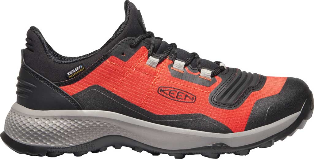Men's Keen Tempo Flex Waterproof Hiking Sneaker, Orange/Black, large, image 2