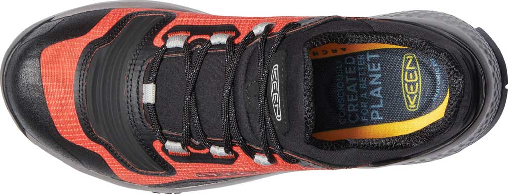 Men's Keen Tempo Flex Waterproof Hiking Sneaker, Orange/Black, large, image 3