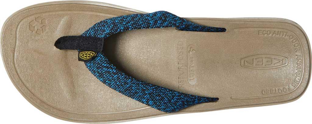 Men's Keen Harvest Flip Flop, Black/Multicolor, large, image 3