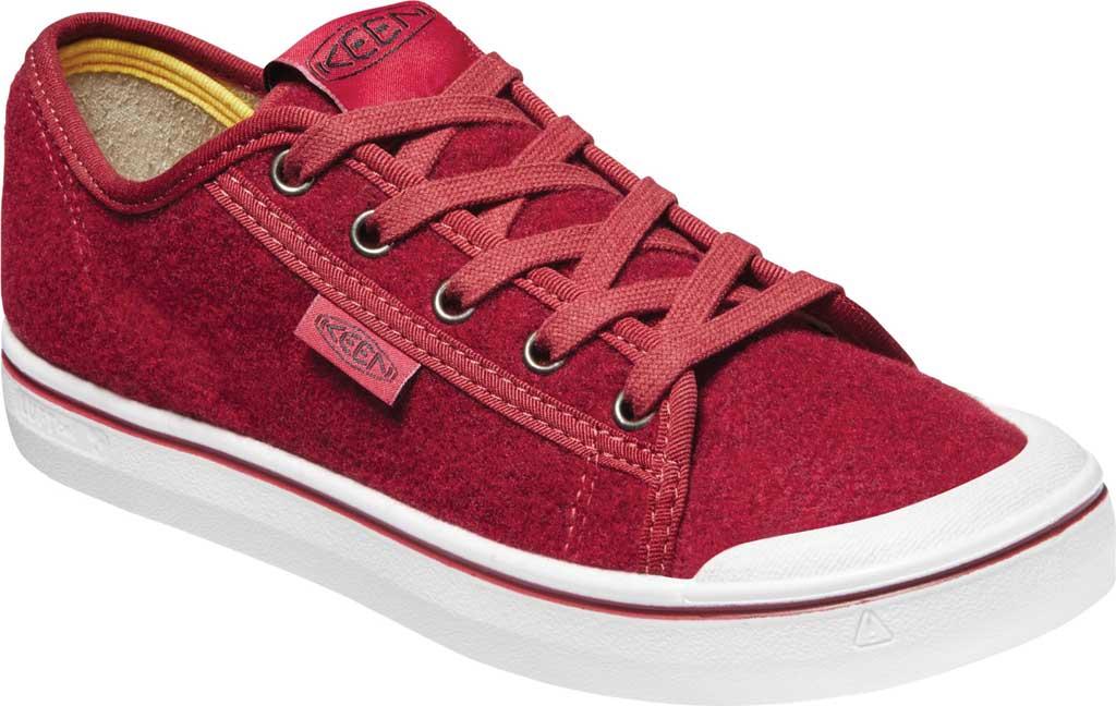 Women's Keen Elsa Lite Sneaker, Red Felt/Vapor, large, image 1