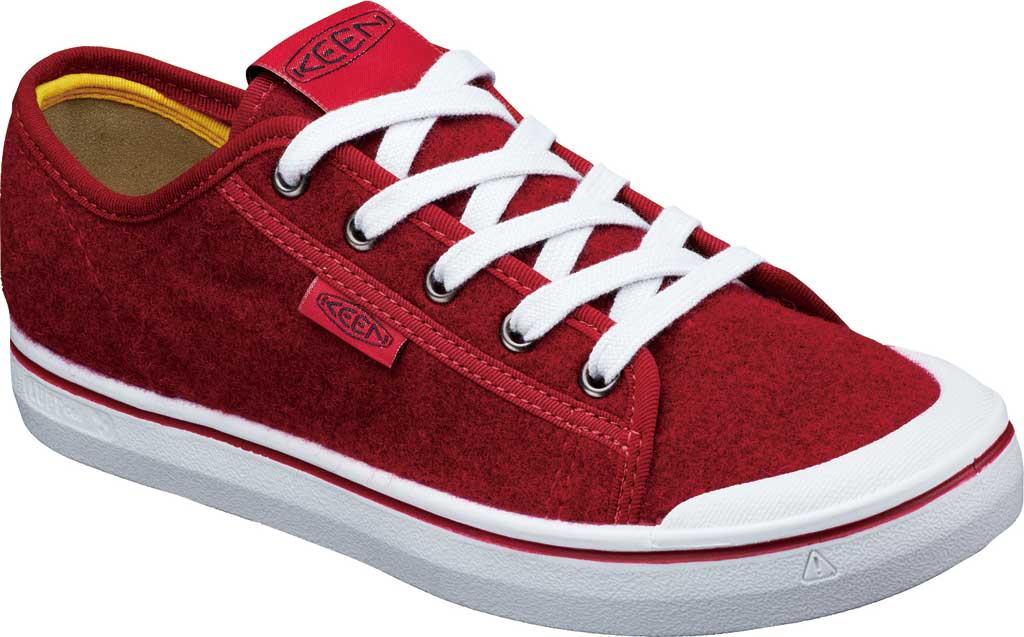 Women's Keen Elsa Lite Sneaker, Red Felt/Vapor, large, image 2