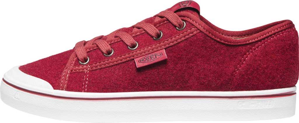 Women's Keen Elsa Lite Sneaker, Red Felt/Vapor, large, image 3
