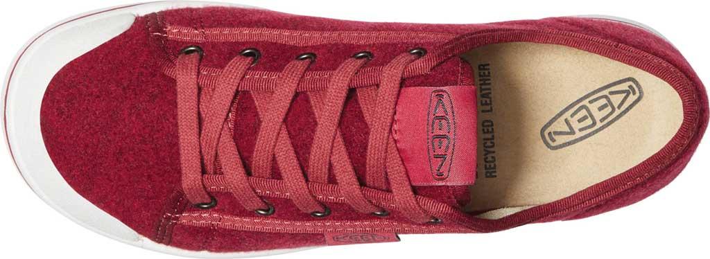 Women's Keen Elsa Lite Sneaker, Red Felt/Vapor, large, image 4