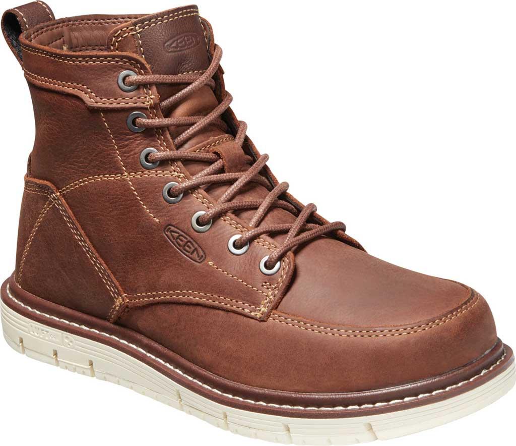 "Women's KEEN Utility San Jose 6"" Soft Toe Waterproof Boot, Gingerbread/Off White Waterproof Leather, large, image 1"
