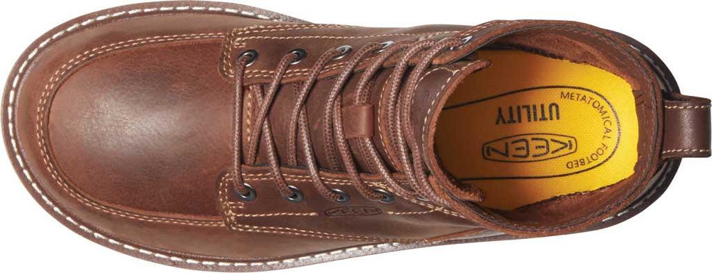 "Women's KEEN Utility San Jose 6"" Soft Toe Waterproof Boot, Gingerbread/Off White Waterproof Leather, large, image 3"