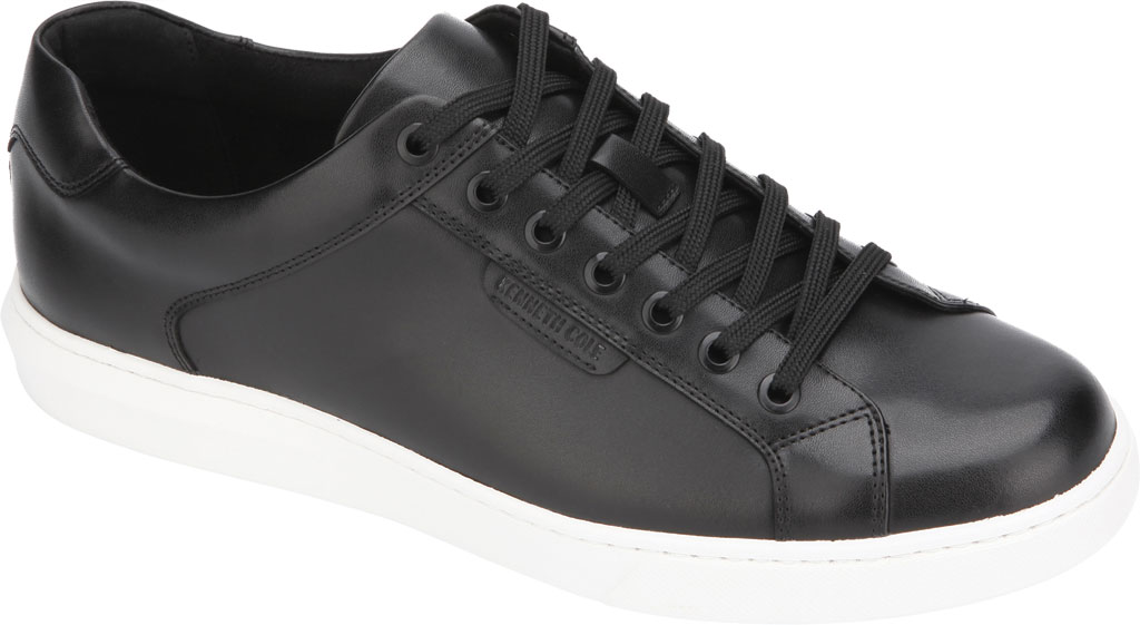 Men's Kenneth Cole New York Liam Sneaker, Black Leather, large, image 1