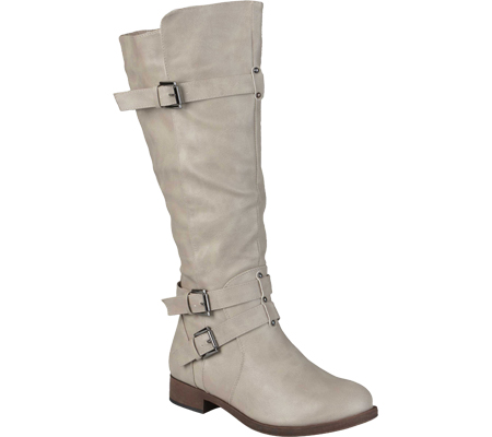Women's Journee Collection Bite Wide Calf Riding Boot, Taupe, large, image 1