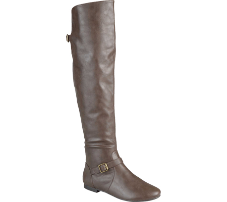 Women's Journee Collection Loft Wide Calf Tall Riding Boot, Taupe, large, image 1