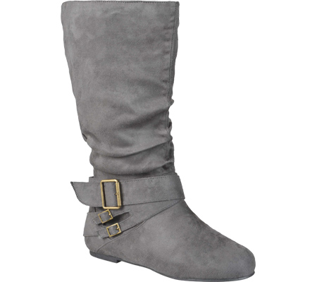 Women's Journee Collection Shelley-6 Slouch Mid Calf Boot, Grey, large, image 1