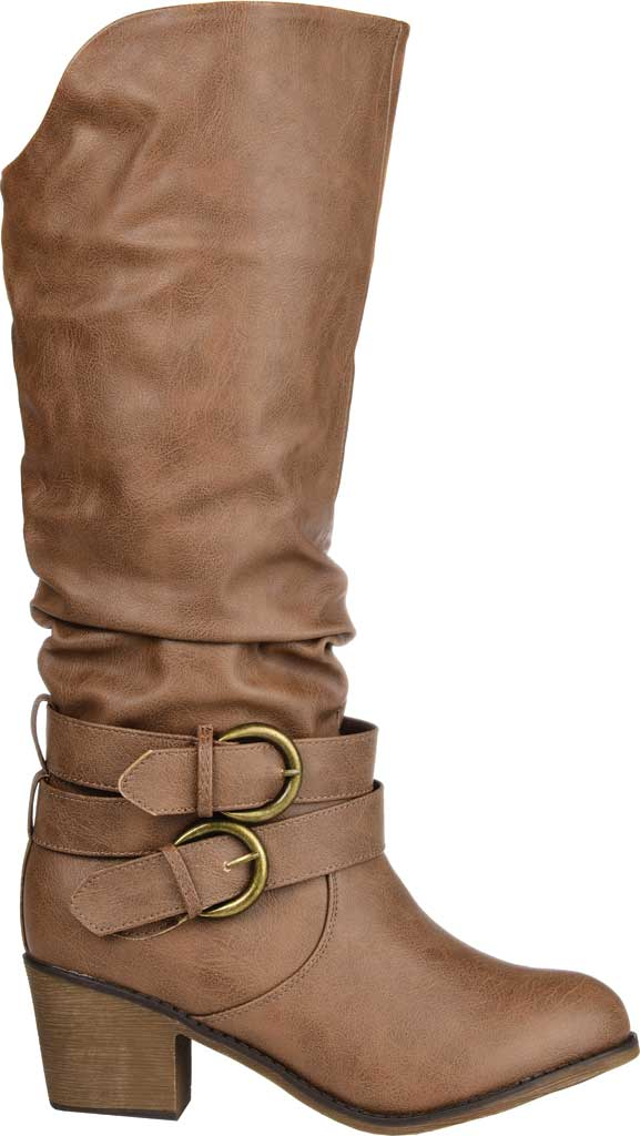 Women's Journee Collection Late Slouch Boot, Taupe, large, image 2