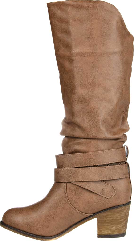 Women's Journee Collection Late Slouch Boot, Taupe, large, image 3
