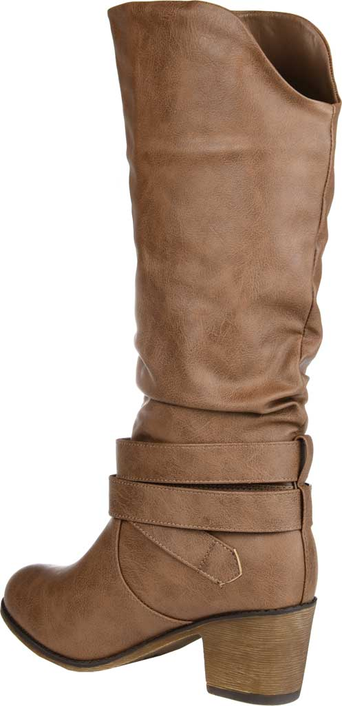Women's Journee Collection Late Slouch Boot, Taupe, large, image 4
