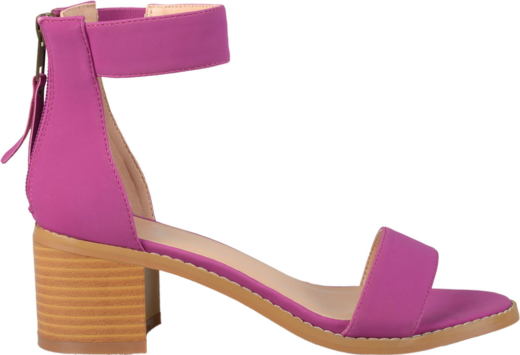 Women's Journee Collection Percy Ankle Strap Heeled Sandal, Plum Faux Nubuck, large, image 2