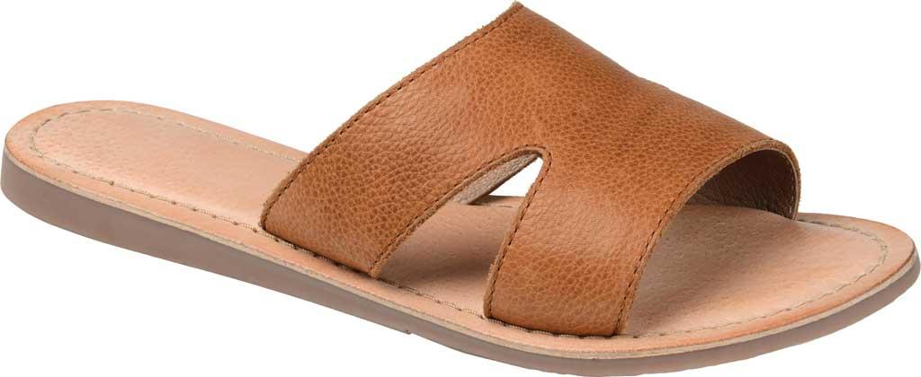 Women's Journee Collection Walker Flat Slide, Tan Leather, large, image 1