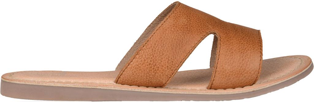 Women's Journee Collection Walker Flat Slide, Tan Leather, large, image 2