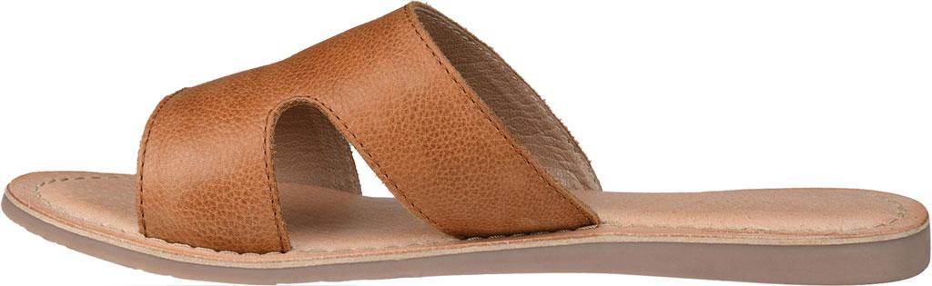 Women's Journee Collection Walker Flat Slide, Tan Leather, large, image 3