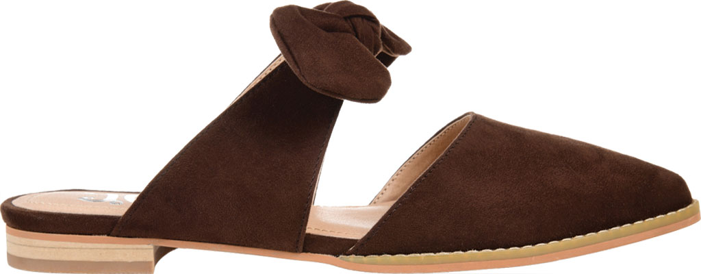 Women's Journee Collection Telulah Pointed Toe Mule, Brown Microsuede Fabric, large, image 2