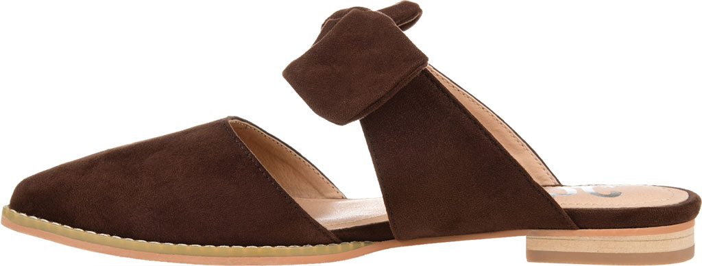 Women's Journee Collection Telulah Pointed Toe Mule, Brown Microsuede Fabric, large, image 3