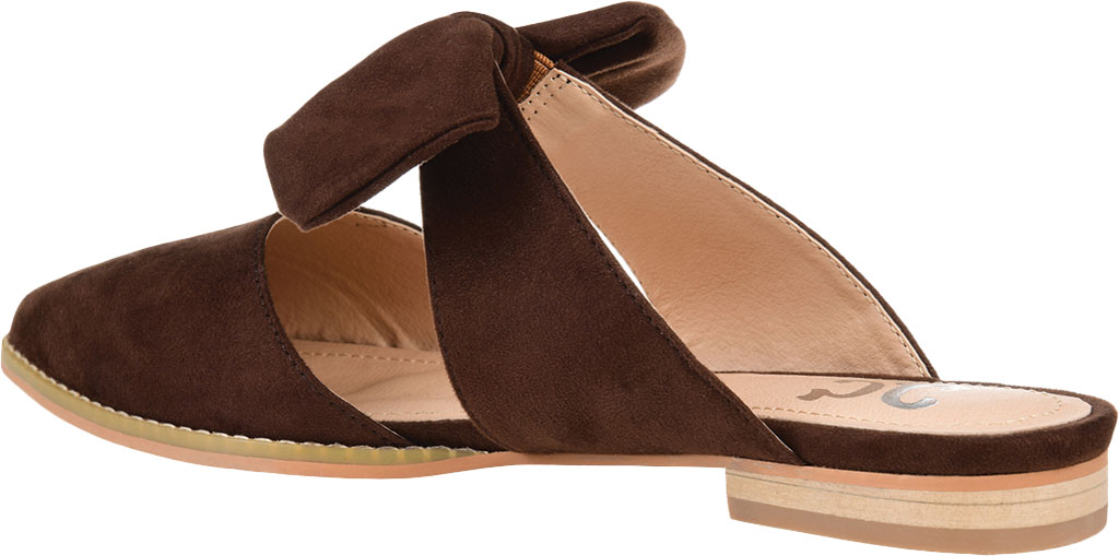 Women's Journee Collection Telulah Pointed Toe Mule, Brown Microsuede Fabric, large, image 4