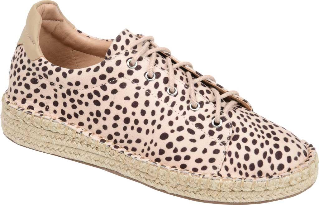 Women's Journee Collection Jordi Espadrille Sneaker, Leopard Faux Suede, large, image 1