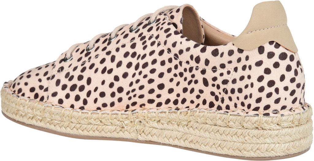 Women's Journee Collection Jordi Espadrille Sneaker, Leopard Faux Suede, large, image 4