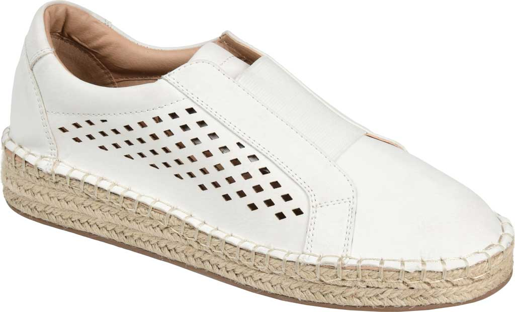 Women's Journee Collection Kandis Espadrille Sneaker, White Faux Leather, large, image 1