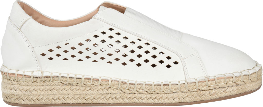 Women's Journee Collection Kandis Espadrille Sneaker, White Faux Leather, large, image 2