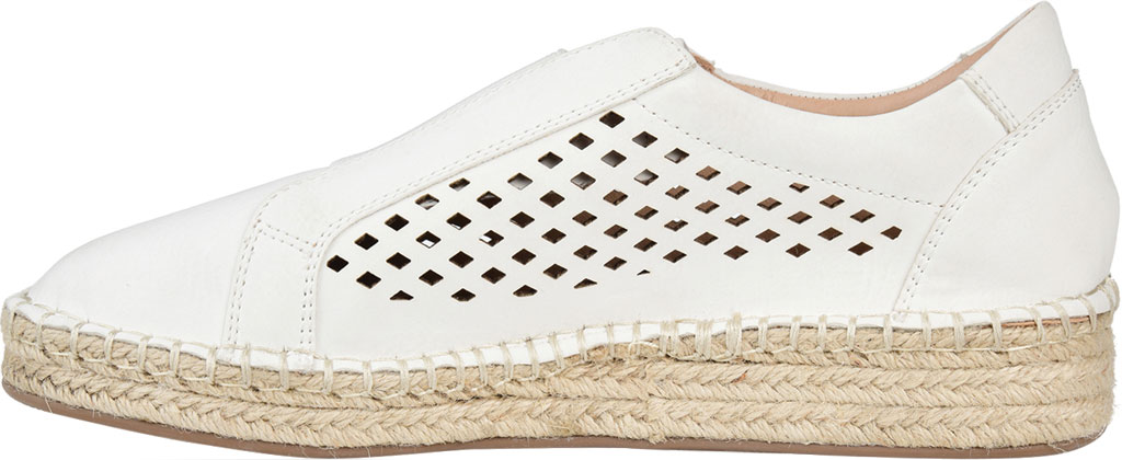 Women's Journee Collection Kandis Espadrille Sneaker, White Faux Leather, large, image 3