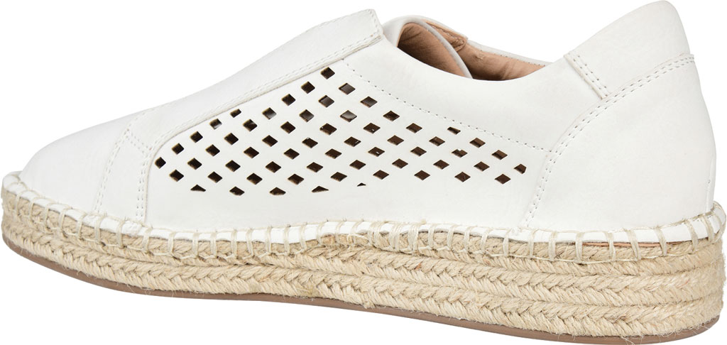 Women's Journee Collection Kandis Espadrille Sneaker, White Faux Leather, large, image 4
