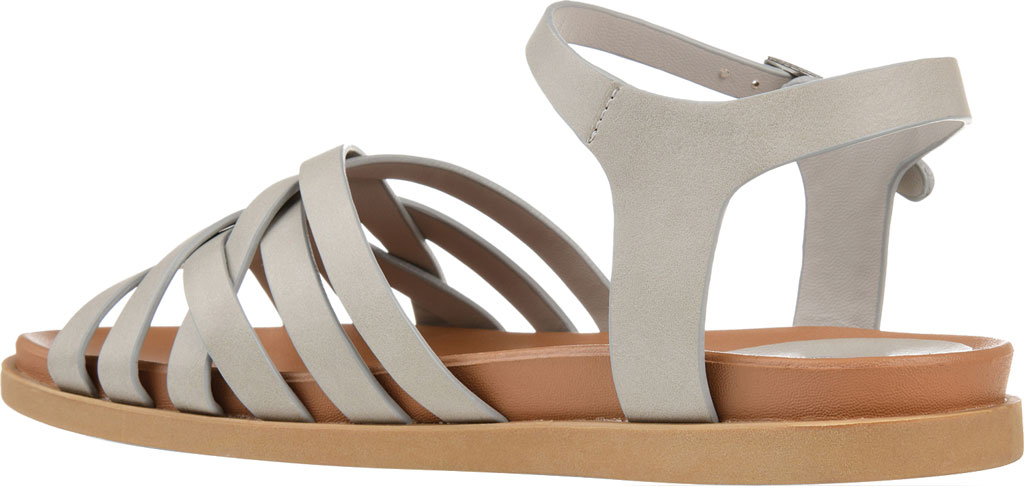 Women's Journee Collection Kimmie Strappy Sandal, Grey Faux Leather, large, image 4