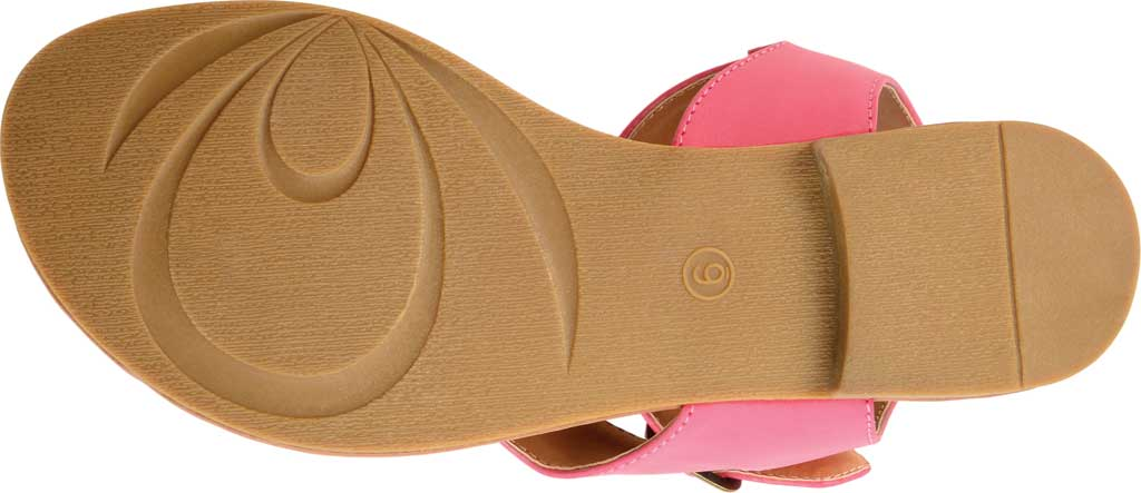 Women's Journee Collection Kyle Ankle Strap Thong Sandal, Pink Faux Leather, large, image 6